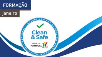Novas ações de formação do Programa Clean & Safe em janeiro de 2021